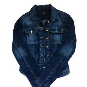 Guess dark blue denim jacket - women's small